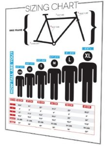 road bike sizing chart