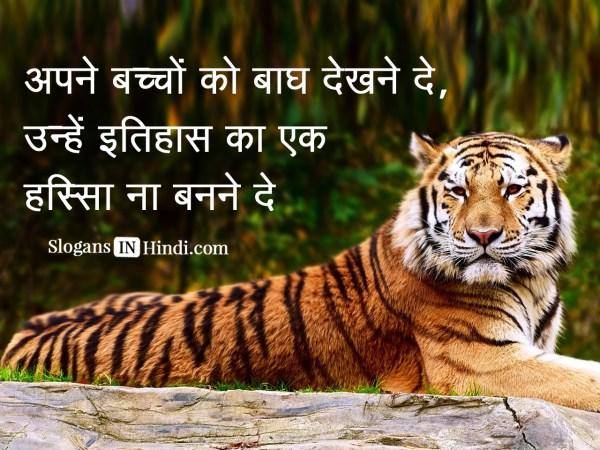 Slogan On Save Tiger - Exploring Mars