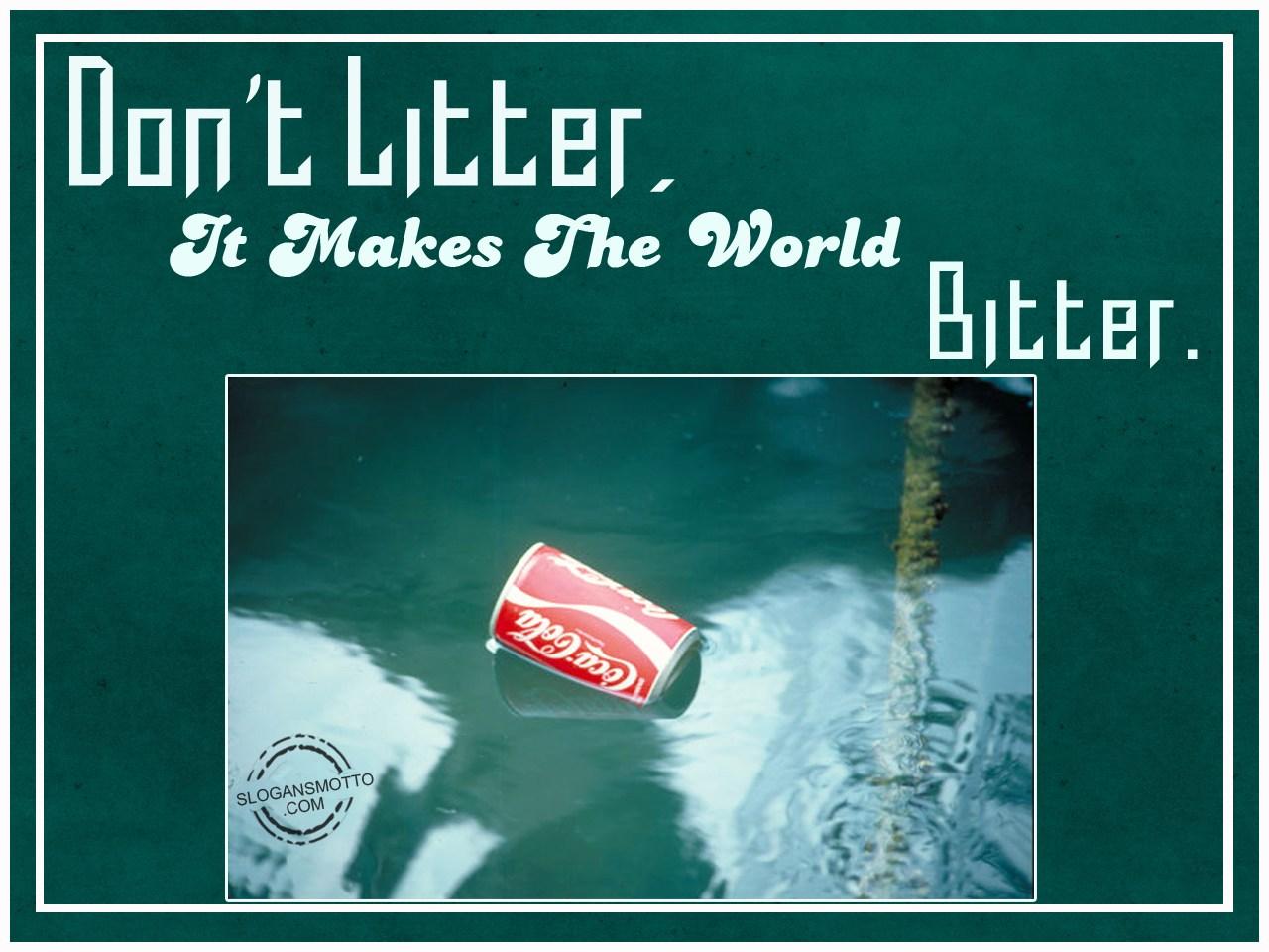 Anti Littering Slogans