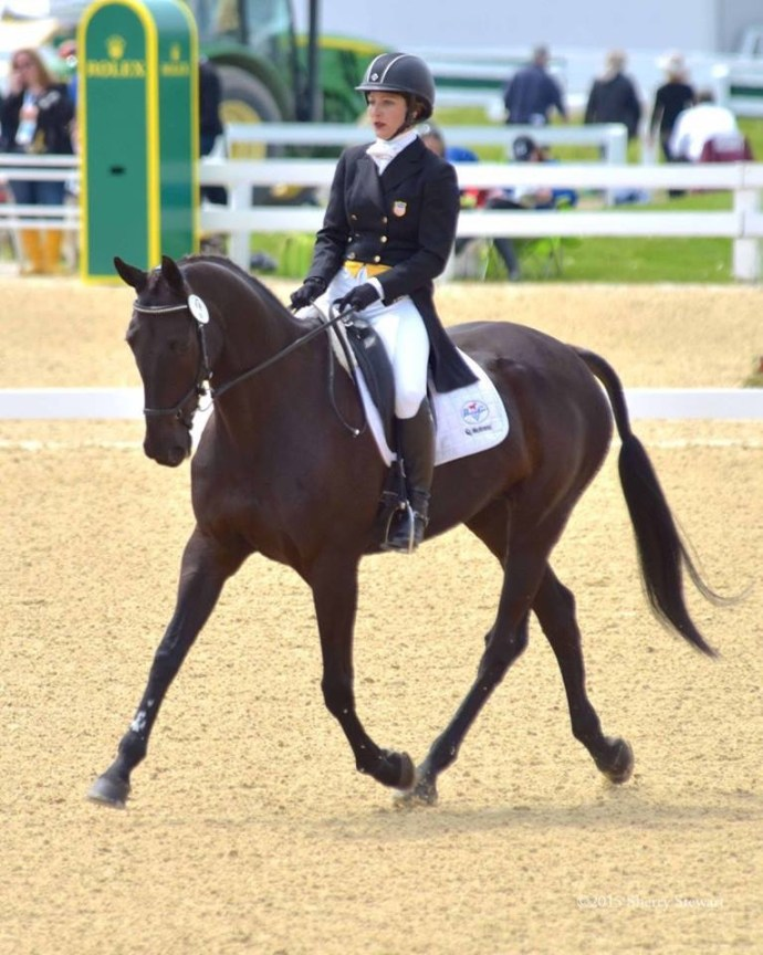 Gina and Ron compete in the Dressage phase at Rolex. Photo by Sherry Stewart