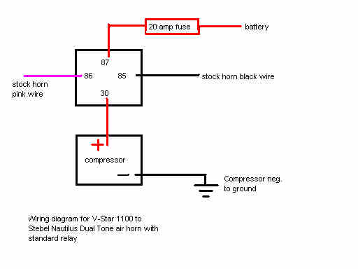 horn wiring diagram relay wiring diagram horn relay wiring diagram image about