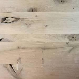 Barn wood Eiken tafelblad stalen frame tafel