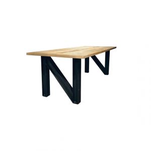 Industrieel stalen N-frame voor houten blad