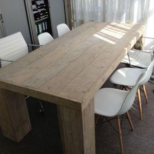Tafel groot van steigerhout