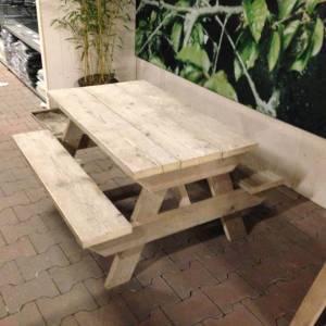 Picknick tafel van steigerhout kindermaat
