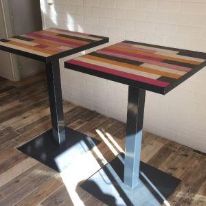 Sta tafel horeca met stalen frame en onderstel