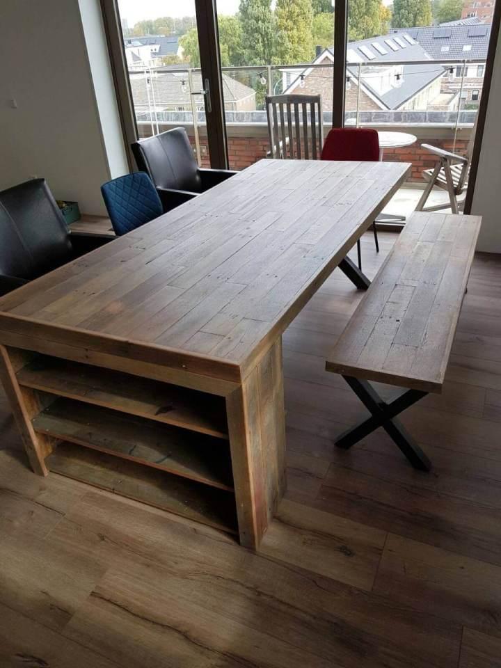 Hardhout sloophout tafelblad for Woning meubels