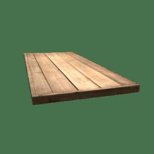 6.2 Steigerhout tafelblad met versteklijst