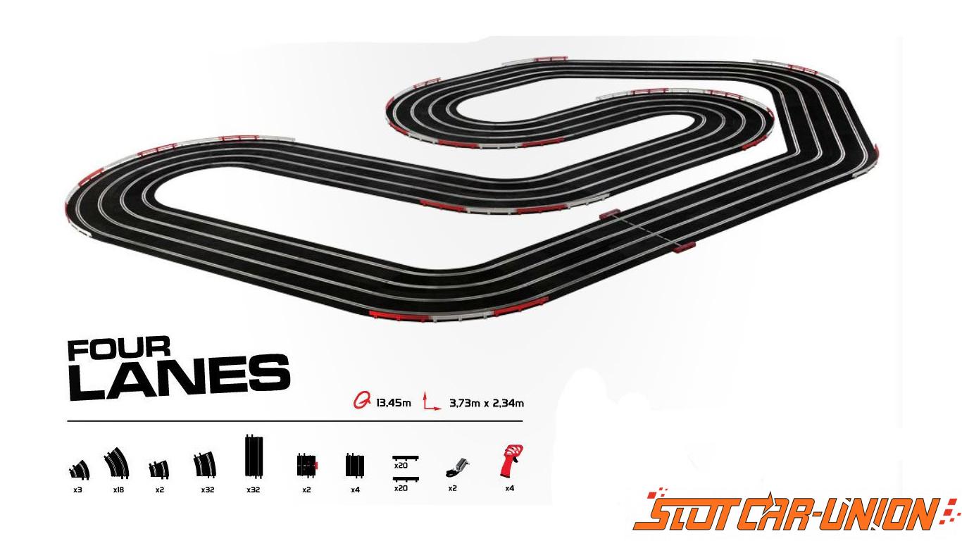 Ninco Pro Series Four Lanes Wico Set