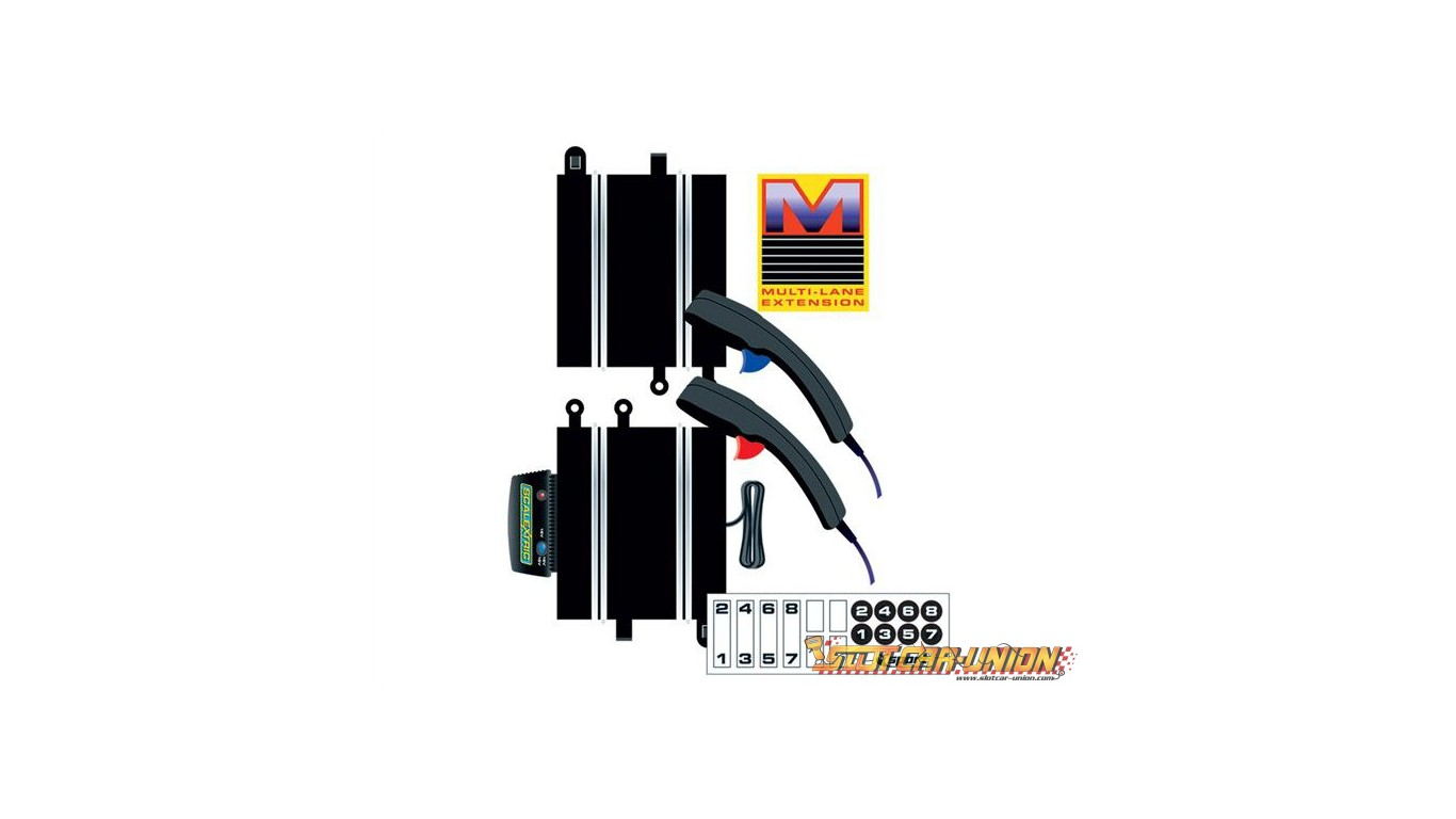 Scalextric C8241 Power & Control Base Multi-lane + 2 Hand