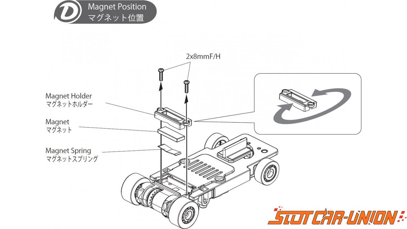 Kyosho Dslot43 Dsp Magnet Set