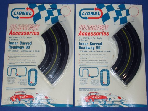 small resolution of lionel raceway accessories ho slot car track inner curved roadway six inch sections 5407