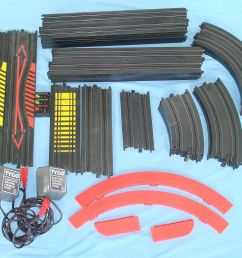 pictures of tyco slot car track parts [ 1200 x 1000 Pixel ]