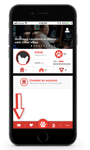 SlotDawg app on iPhone