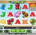 Flowers slot game reels