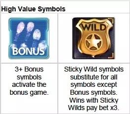crime scene high value symbols