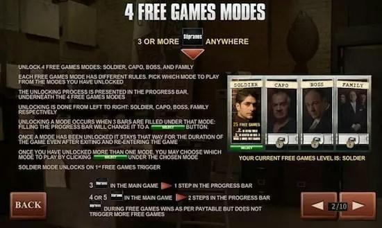 Free Games modes Sopranos