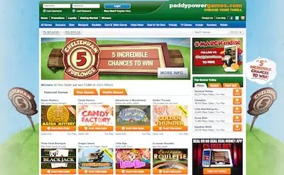 Paddy Power casino and games