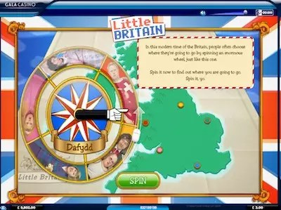 Little Britain slot bonus wheel