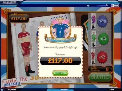 Little Britain slot Daffyd bonus round