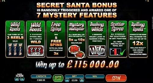 Secret Santa slot features 1