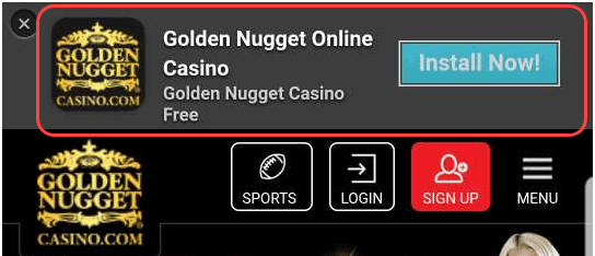 How to play live casino at Golden Nugget site with Android?