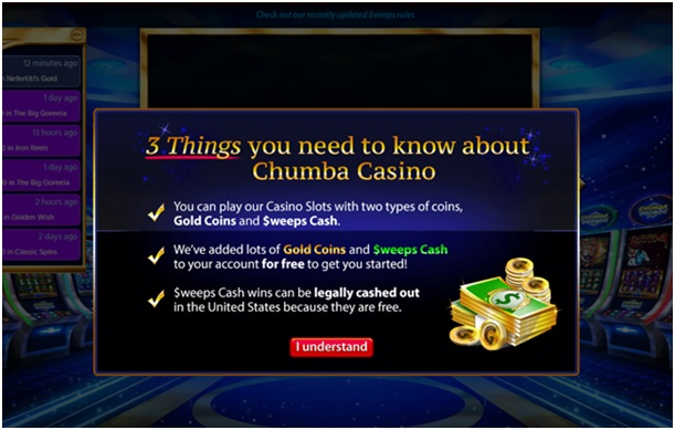 Chumba Casino How to get started- Open your casino account