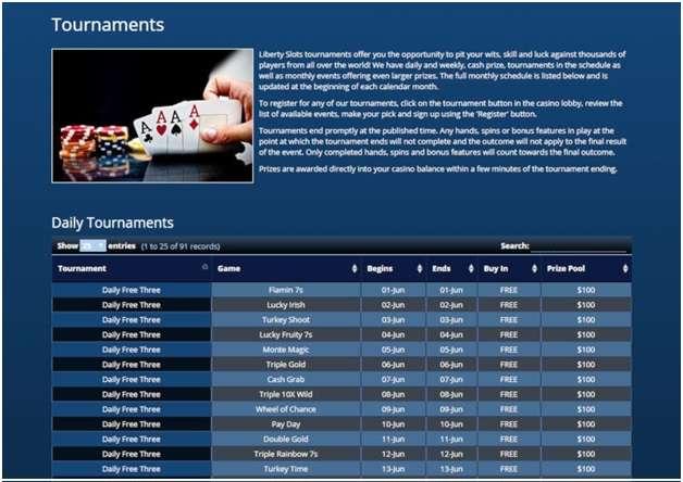 150 Tournaments to play at Liberty Slots