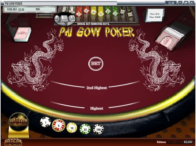 Pai Gow at Superior Casino to play