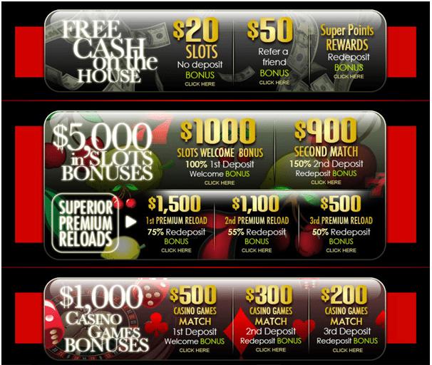 $5000 welcome bonus at Superior Casino