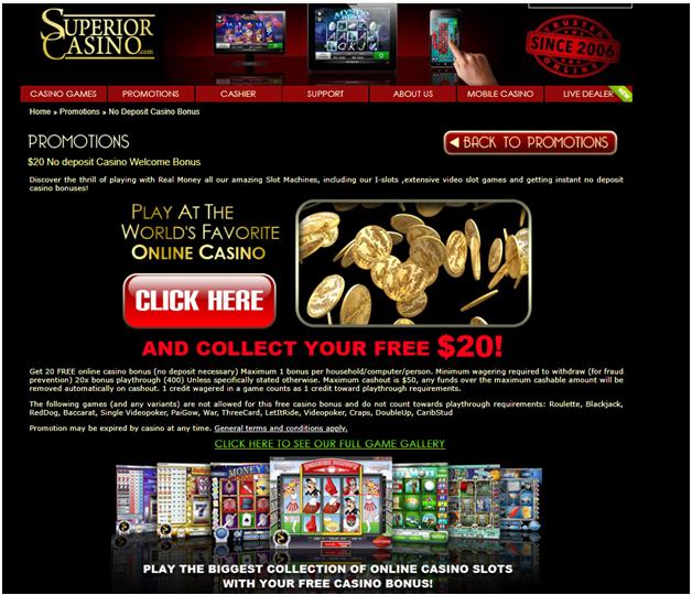 Superior Casino free cash