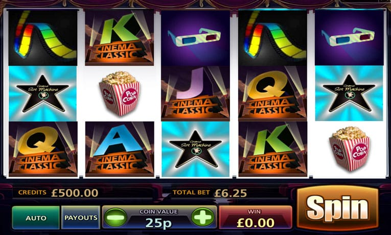 Classic Cinema Slot is One of the Most Popular Casino Game No Download No Registration Play for Real and Win for Real.FREE ONLINE CASINO SLOTS; TOP Offer.Classic Cinema Slot Software: multislot; Slot Type: Video Slots; Paylines: 25; Reels: 5; Jackpot: ; RTP: %; Slot features: Wild Symbol, Scatter Symbol, Autoplay Option.