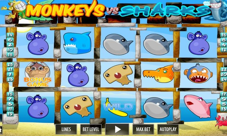Play Monkeys vs. Sharks Slots Free on This Page