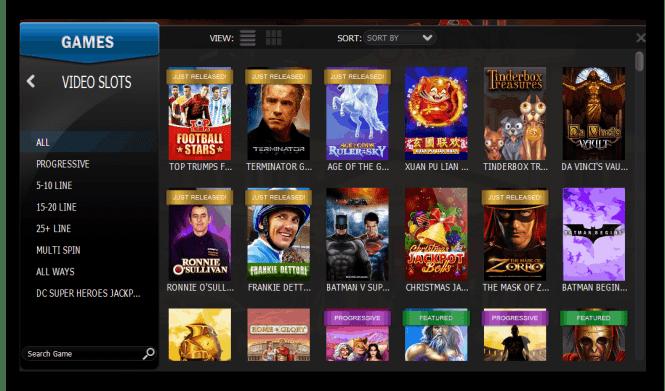 Omni Casino Game Lobby