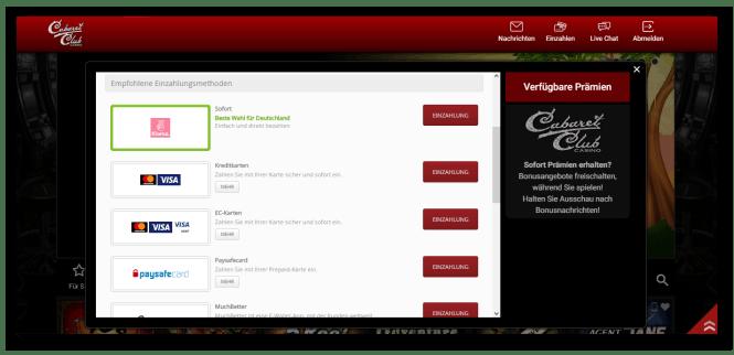 Cabaret Club Casino Kassierer Screenshot