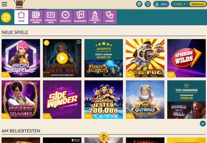 DrückGlück Casino Game Lobby Screenshot
