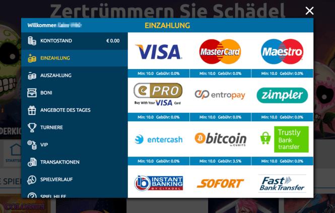 PlayMillion.com Kassierer Screenshot