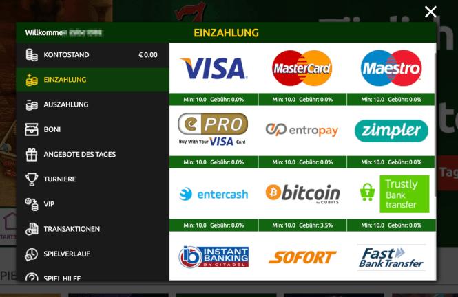 Prime Casino Kassierer Screenshot