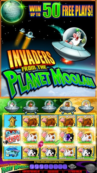 Invaders from the Planet Moolah 50 Free Plays