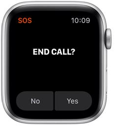 Apple watch- emergency call