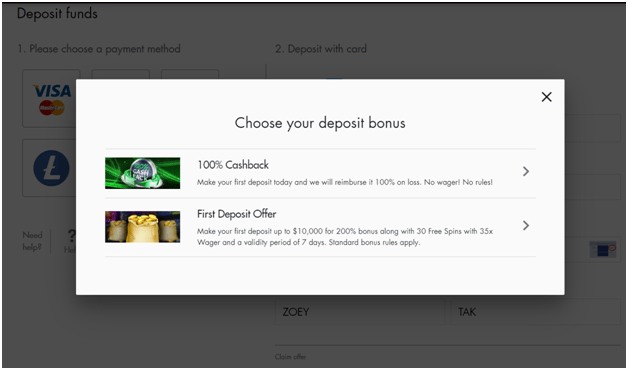 Bonuses at Box 24 casino Canada