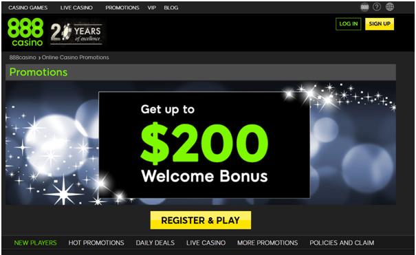 Casino Bonuses- Welcome Bonus