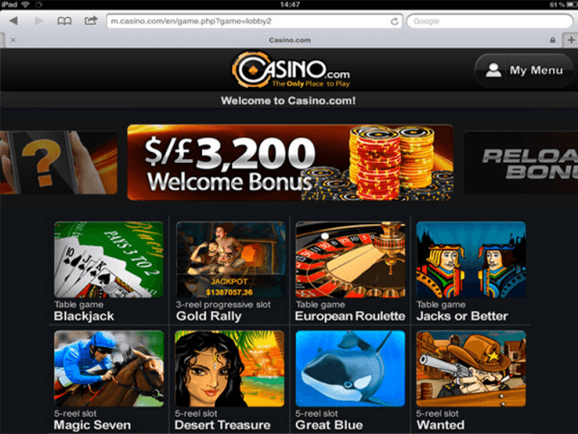 Casino.com for iPad