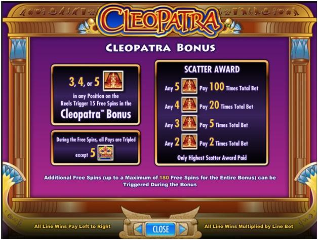 Cleopatra bonus features