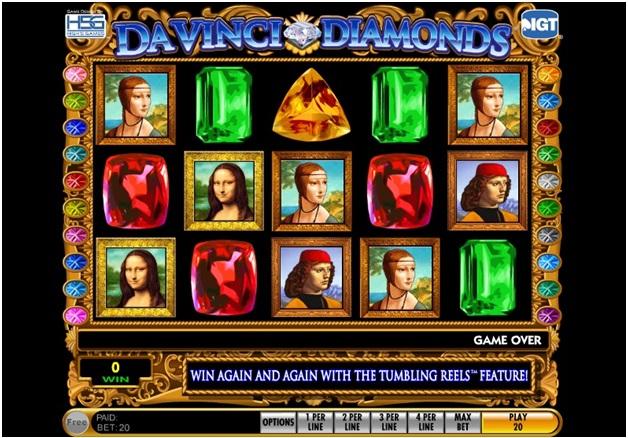 Da vinci Diamonds slot- How to play