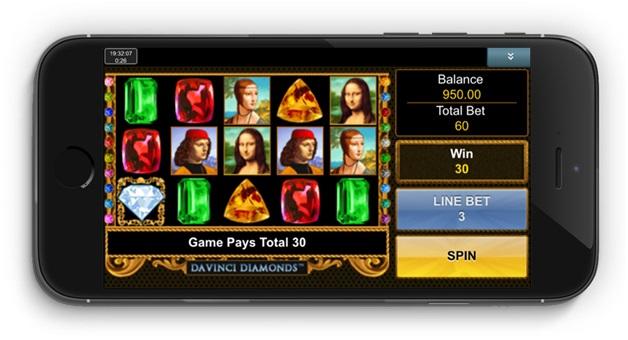 Da vinci Diamonds slot- Mobile Version