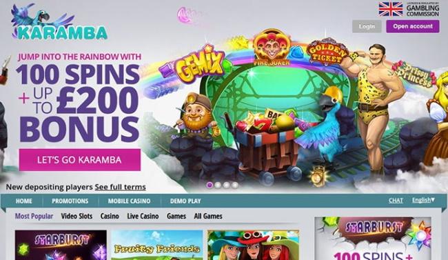 Features and Games - Karamba Casinos