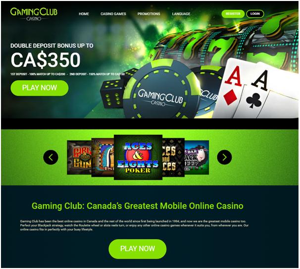 Gaming Club casino Canada iPhone
