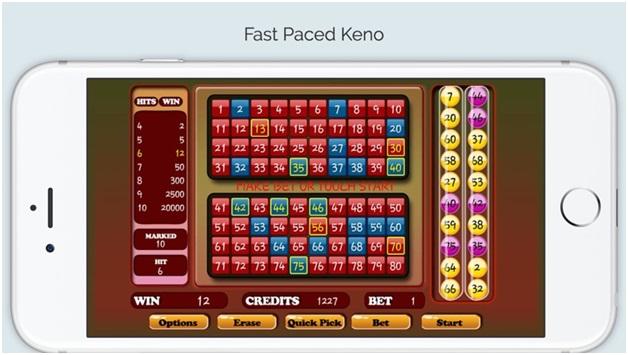 Keno fantastic app