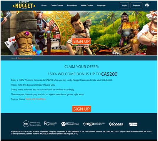 Lucky Nugget iPhone Casino Bonus